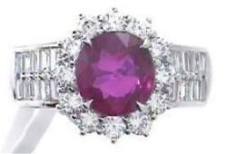 217 ctw Ruby and Diamond Ring  18KT TwoTone Gold