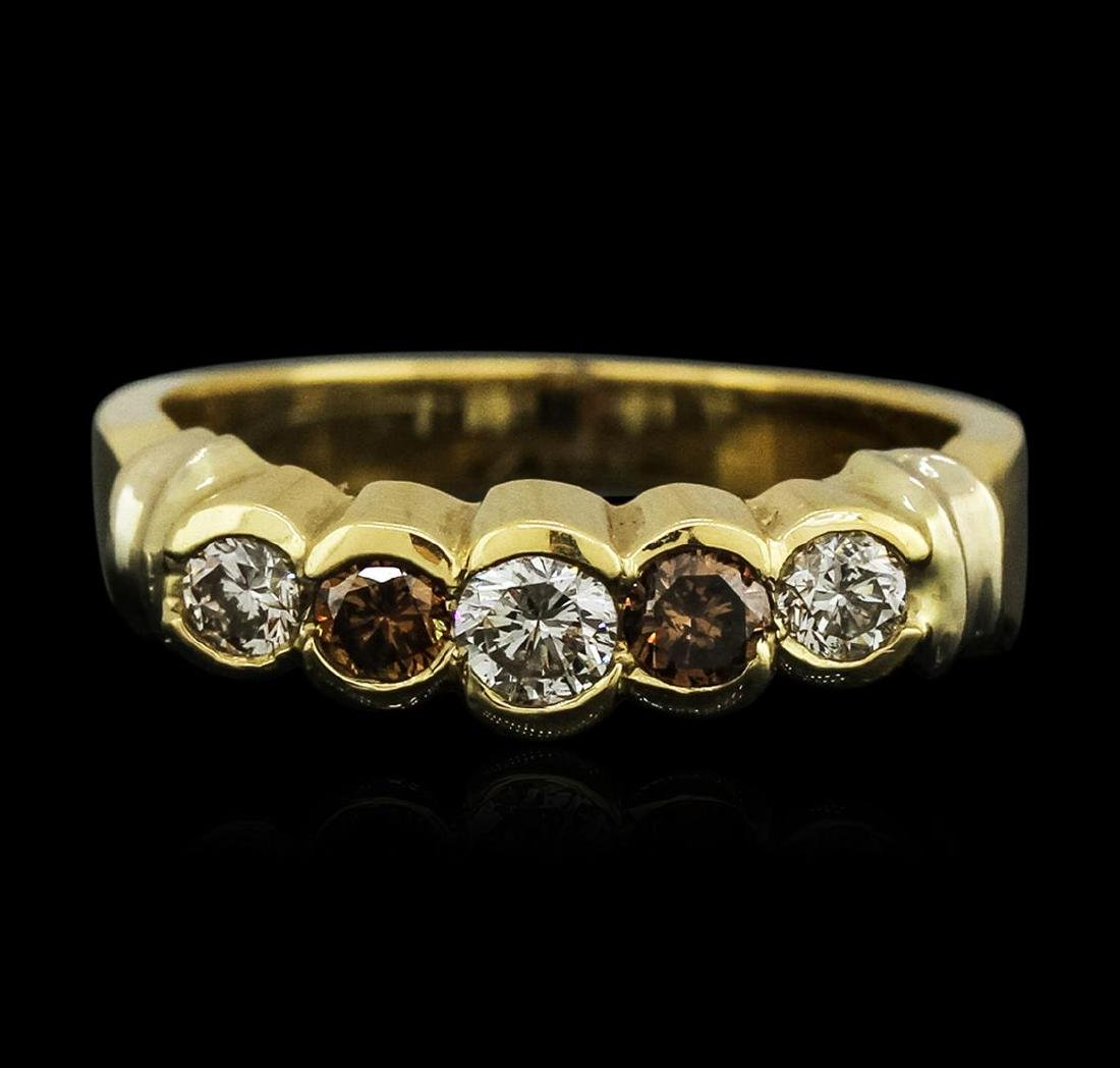 14KT Yellow Gold 0.58 ctw Diamond Ring - 2
