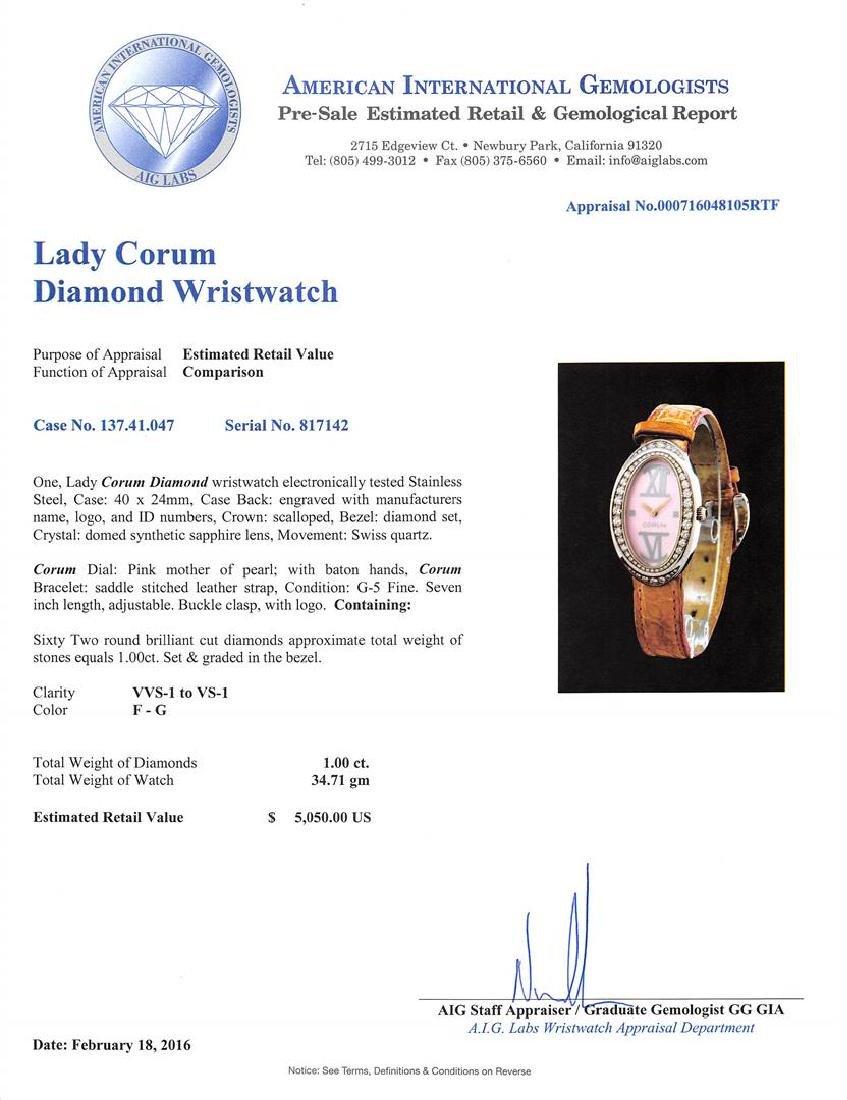 Corum Stainless Steel 1.00 ctw Diamond Ladies Watch - 5