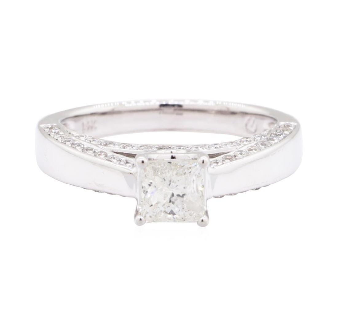 1.28 ctw Diamond Ring - 14KT White Gold - 2