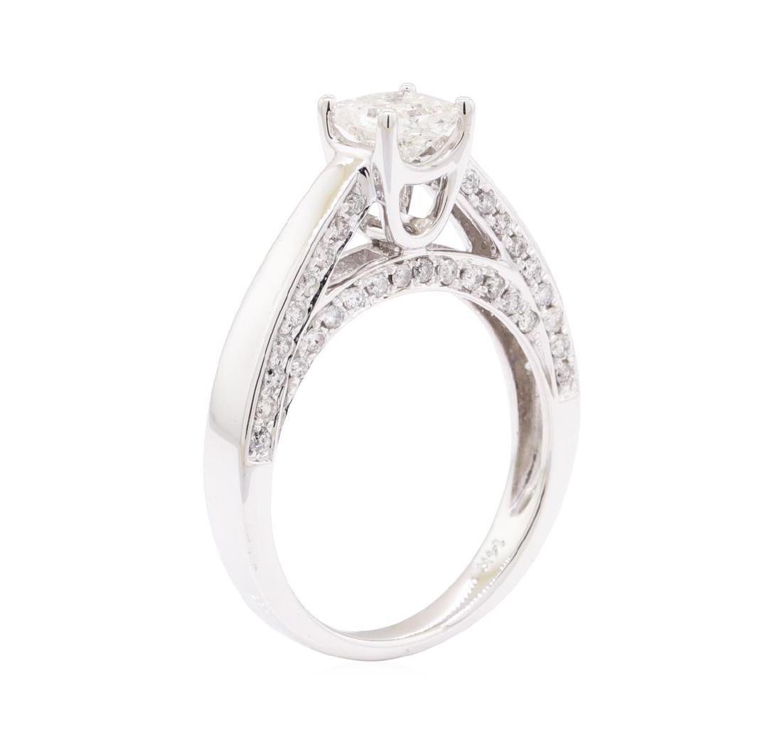 1.28 ctw Diamond Ring - 14KT White Gold - 4