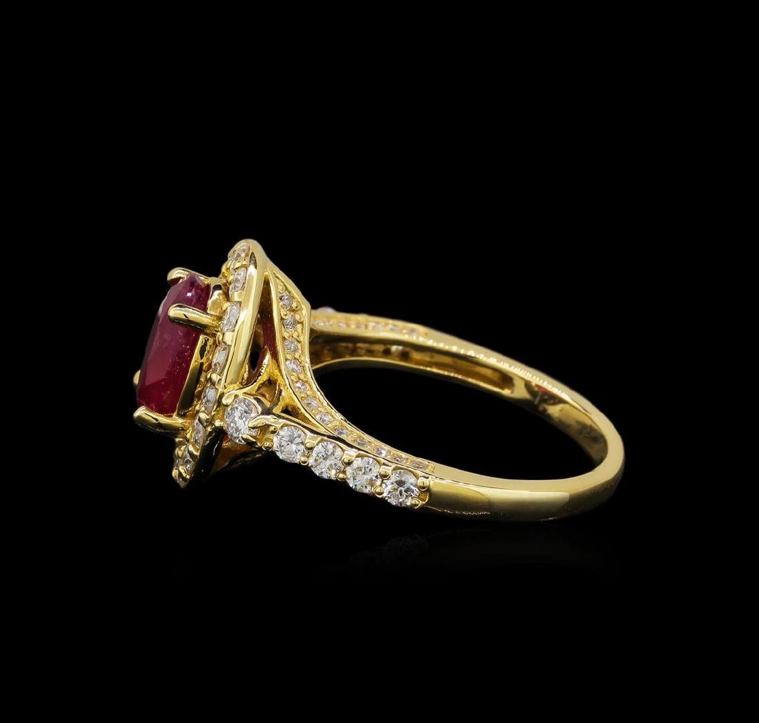 14KT Yellow Gold 2.35 ctw Ruby and Diamond Ring - 3