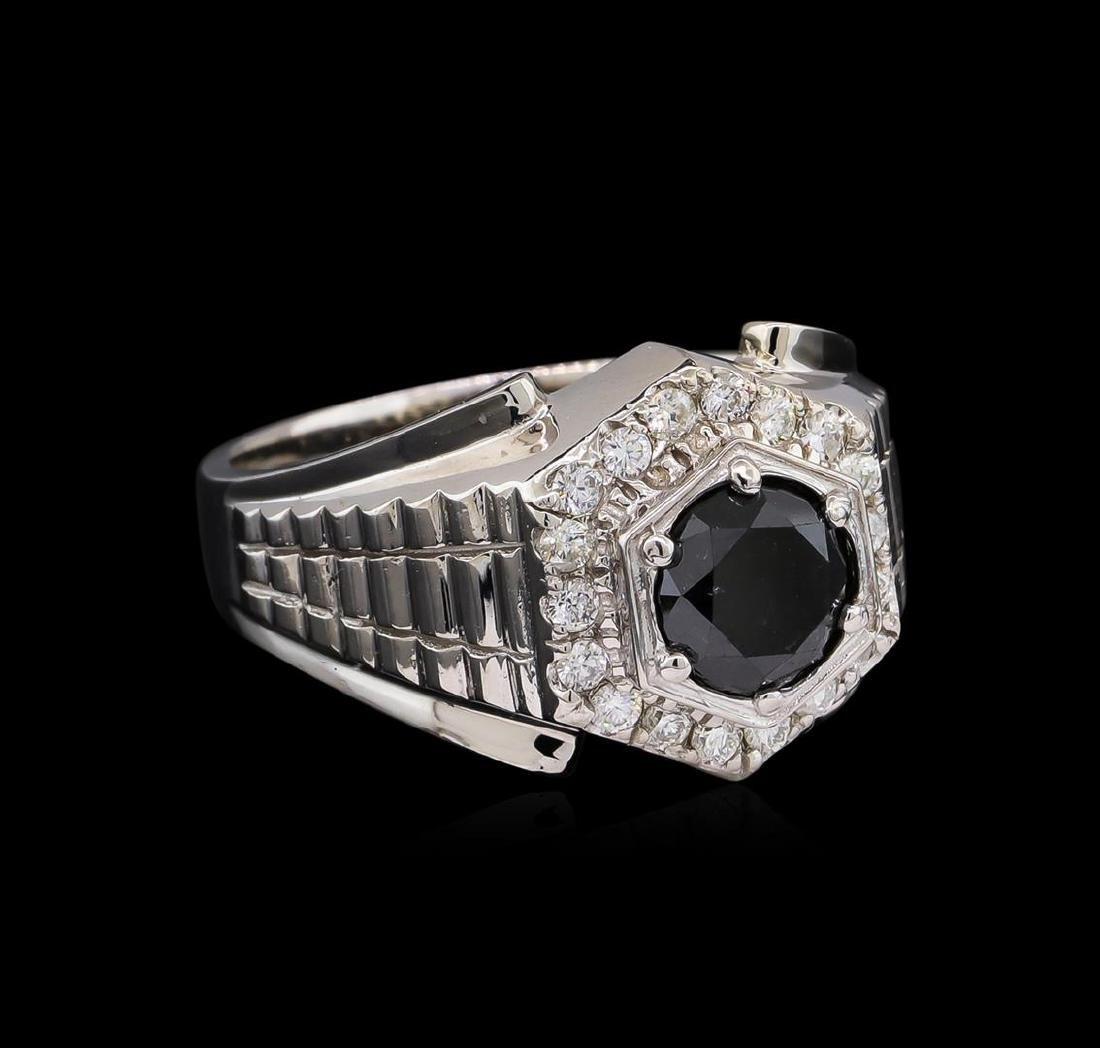 2.55 ctw Black Diamond Ring - 14KT White Gold