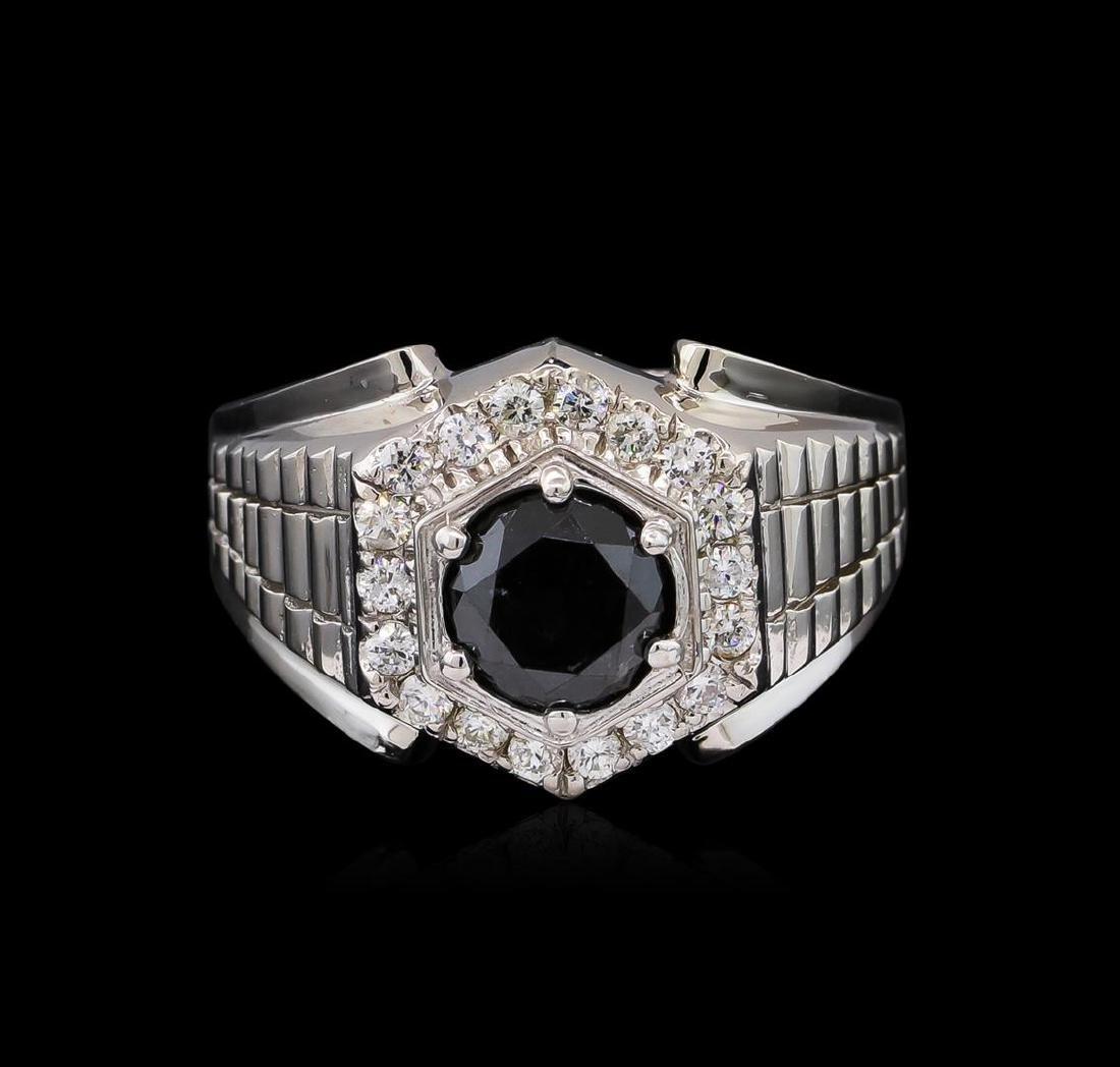 2.55 ctw Black Diamond Ring - 14KT White Gold - 2