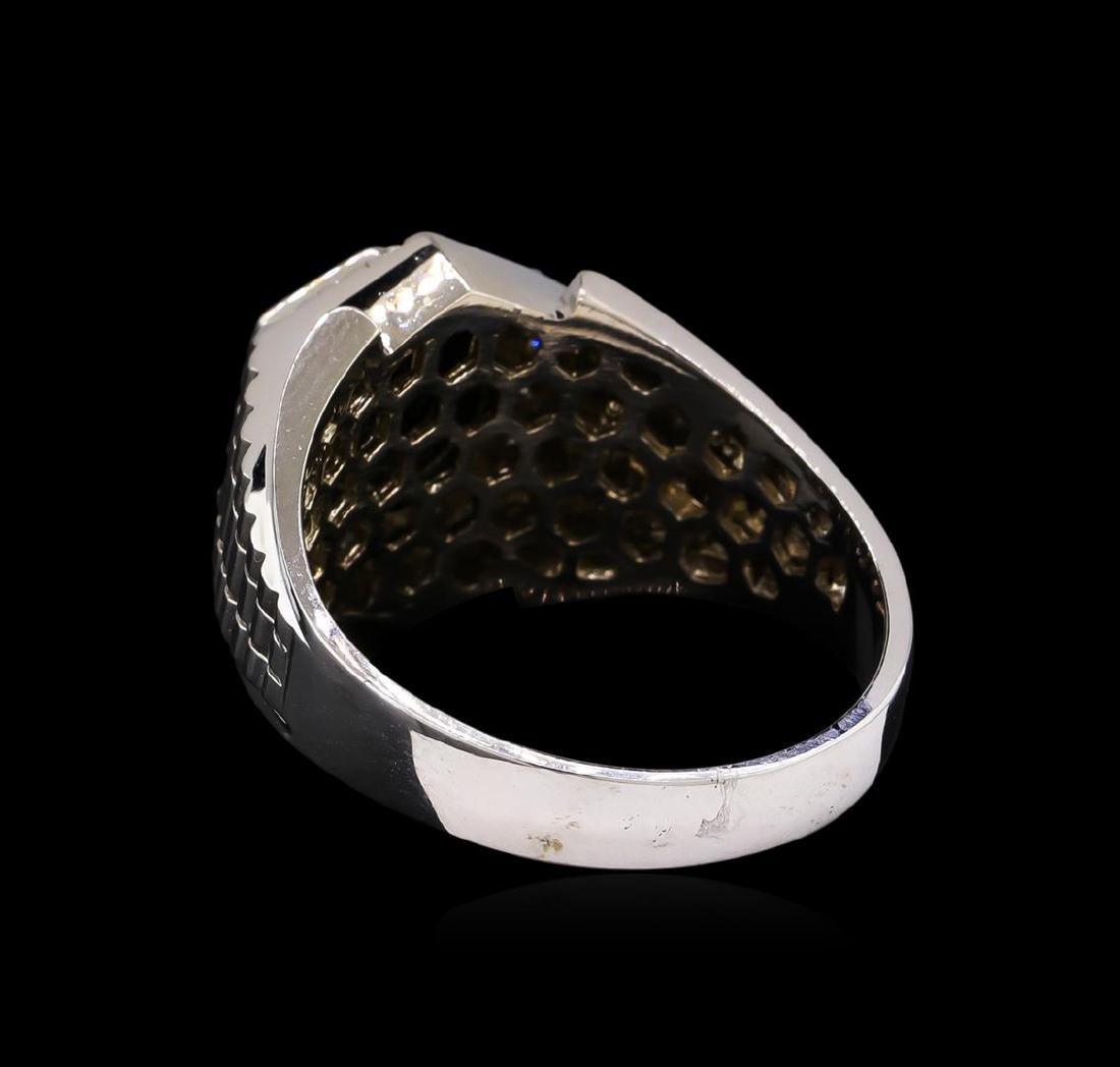 2.55 ctw Black Diamond Ring - 14KT White Gold - 3