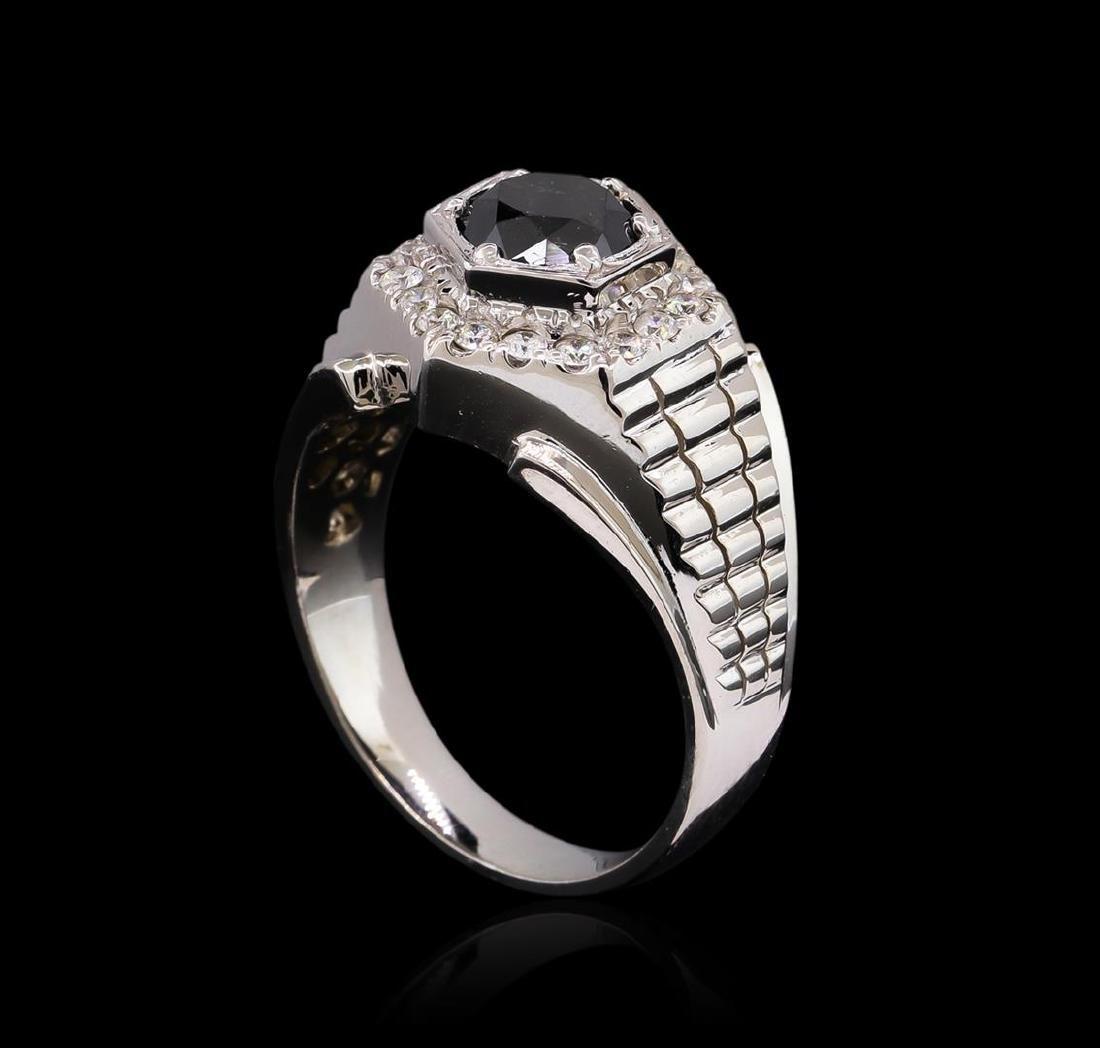2.55 ctw Black Diamond Ring - 14KT White Gold - 4