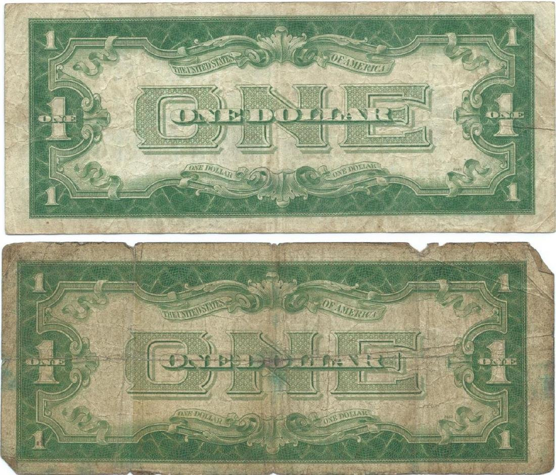 1928 $1 Silver Certificate Currency Lot of 2 - 3