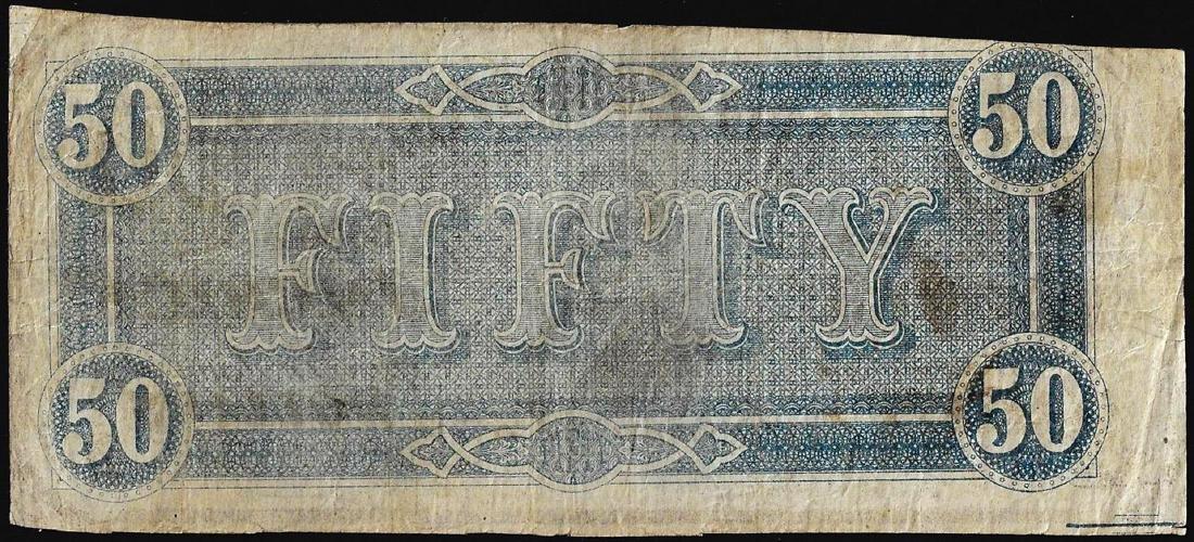 1864 $50 Confederate States of America Note - 2