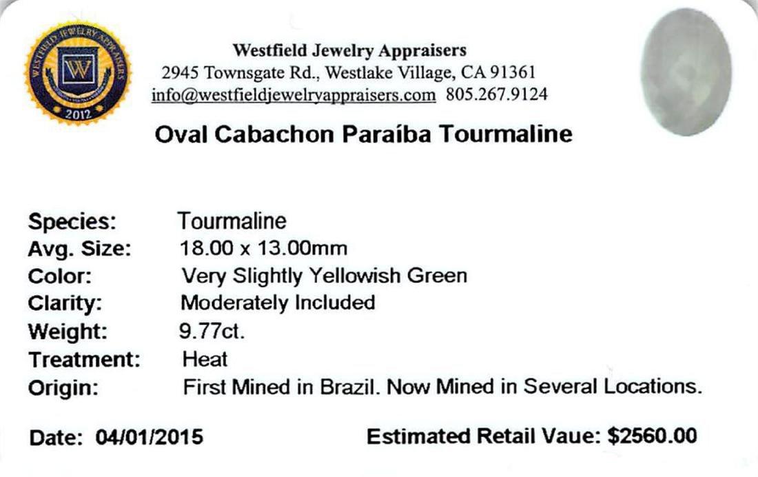 9.77 ctw Cabochon Paraiba Tourmaline Parcel - 2
