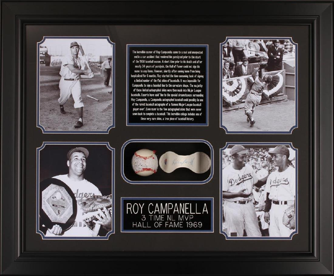 PSA Certified Roy Campanella Framed Autographed