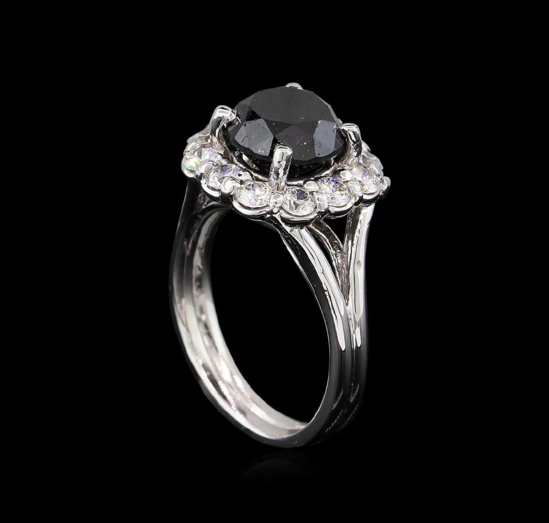 4.25 ctw Black Diamond Ring - 14KT White Gold - 4