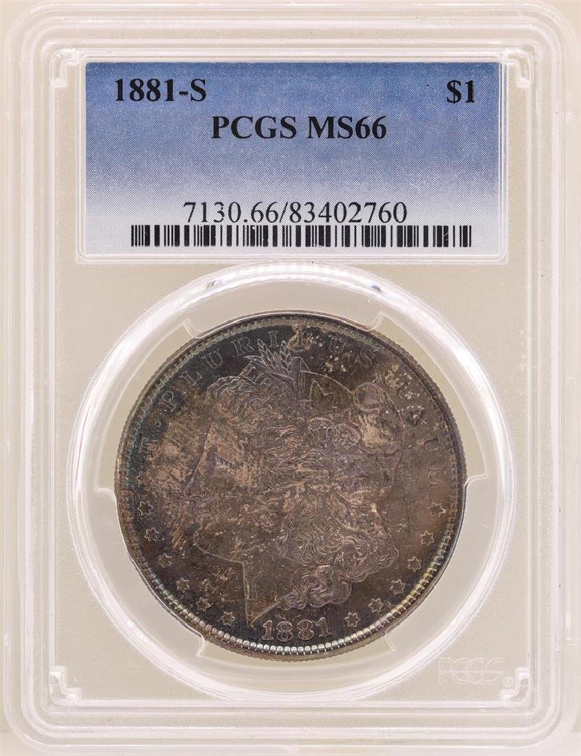 1881-S $1 Morgan Silver Dollar Coin PCGS MS66 Great