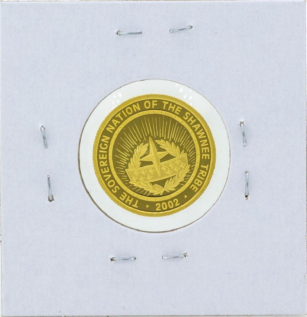 2002 $5 The Sovereign Nation of the Shawnee Tribe Gold - 2