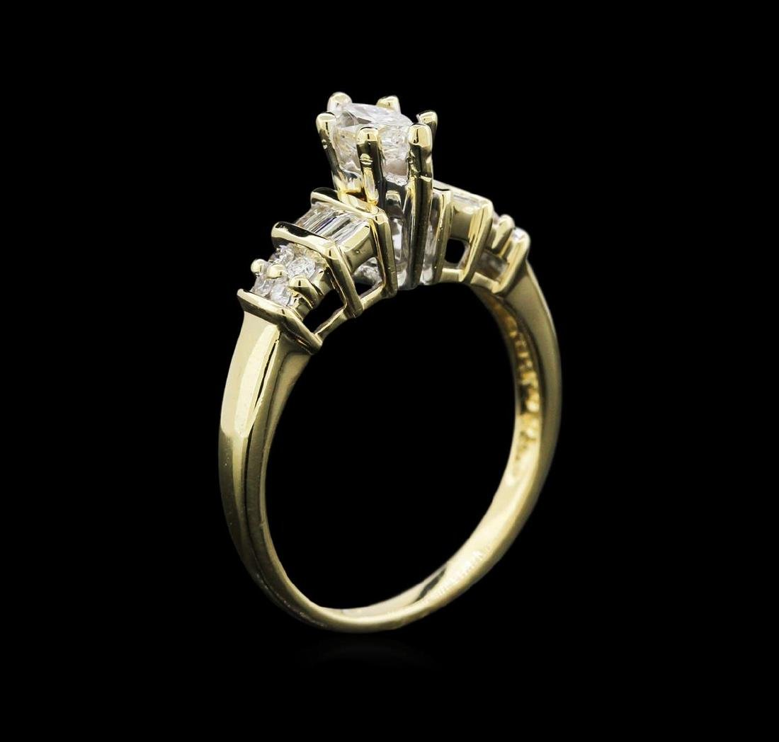 0.79 ctw Diamond Ring - 14KT Yellow Gold - 3