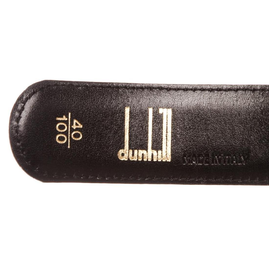 Dunhill Black Leather Gold Buckle Belt - 6