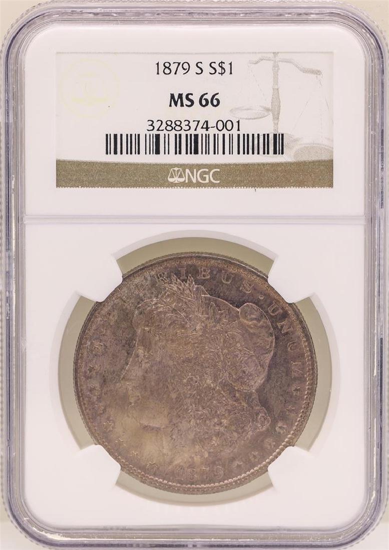 1879-S $1 Morgan Silver Dollar Coin NGC MS66