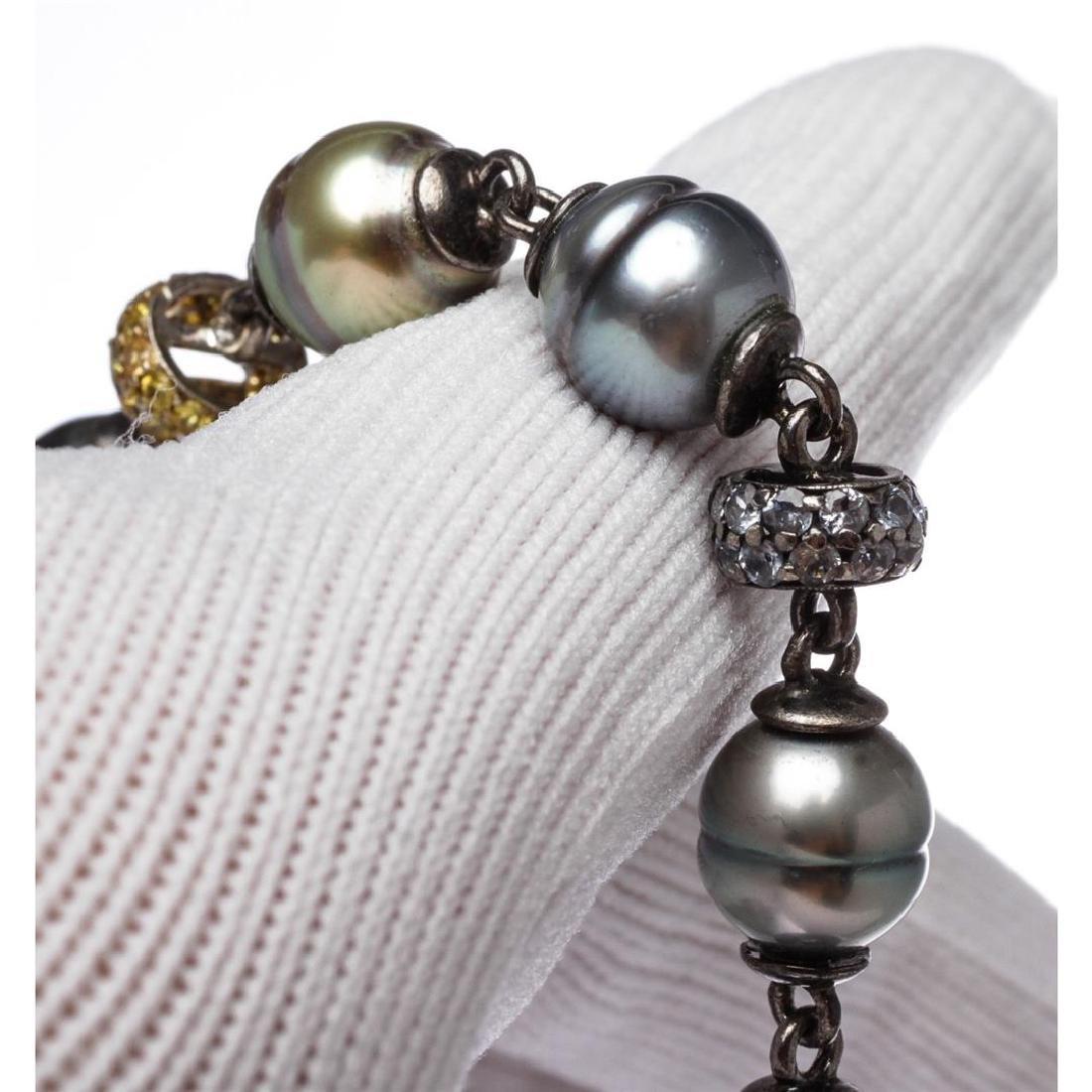 Tahitian Circle Pearl Long Necklace - 4
