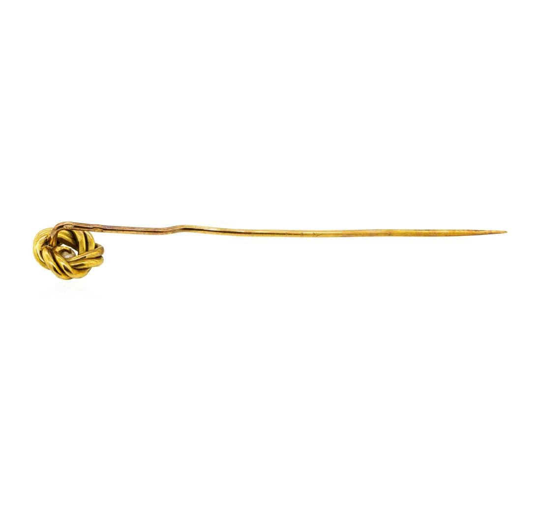 Pearl Stick Pin - 14KT Yellow Gold - 2
