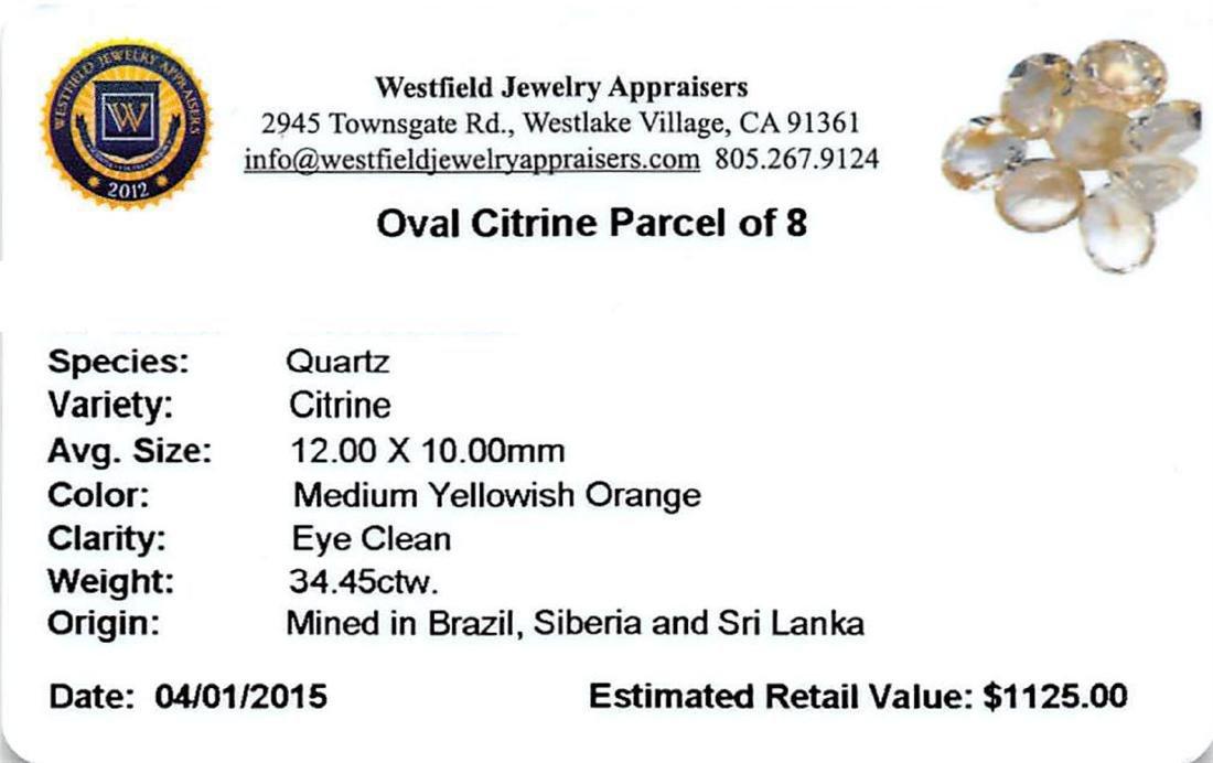 34.45 ctw Oval Mixed Citrine Quartz Parcel - 2