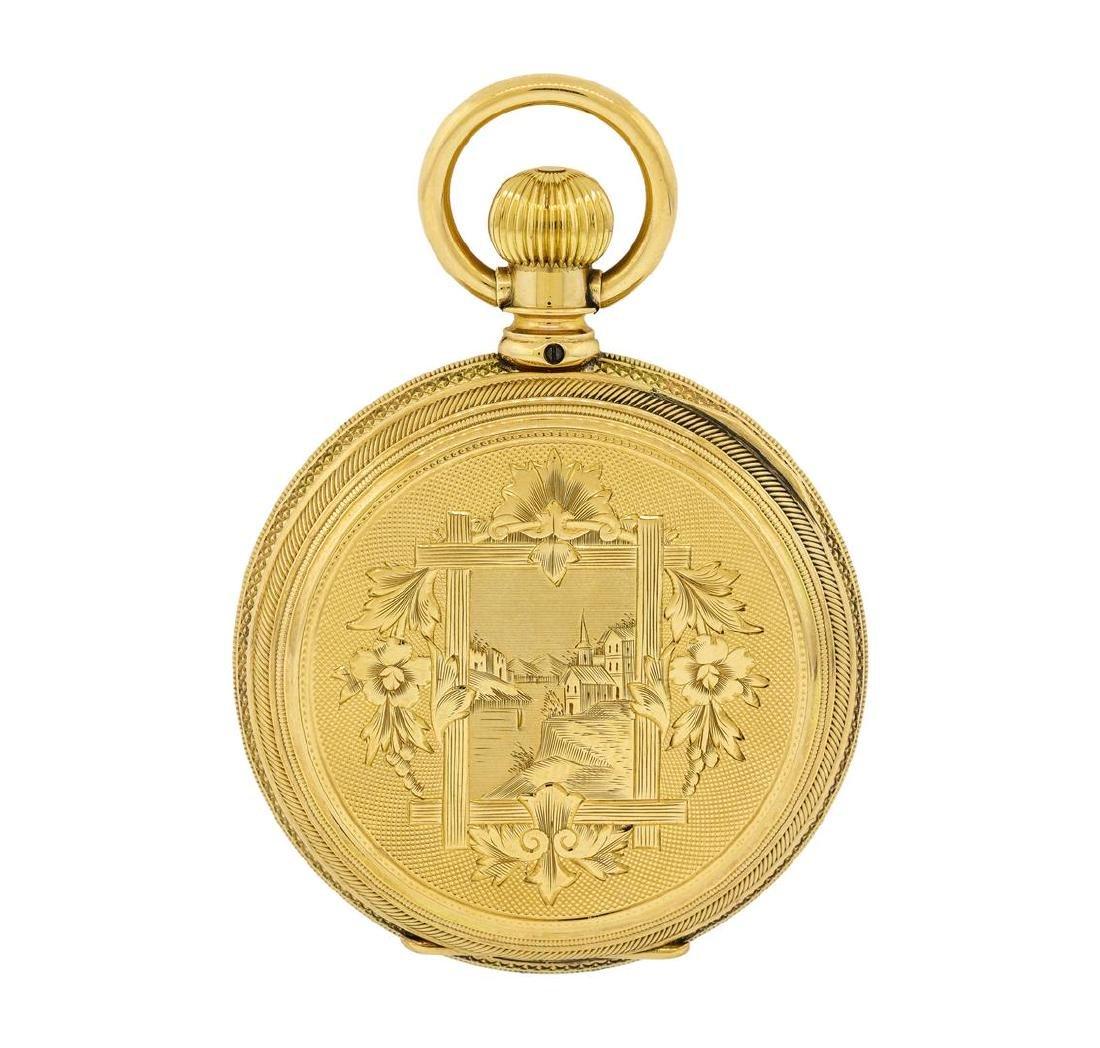 Vintage Elgin Pocket Watch - 14KT Yellow Gold - 2