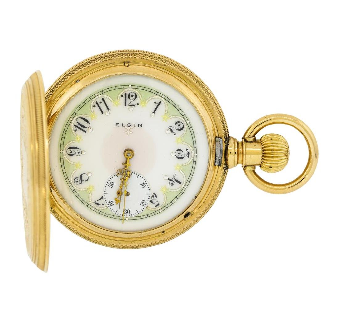Vintage Elgin Pocket Watch - 14KT Yellow Gold - 3