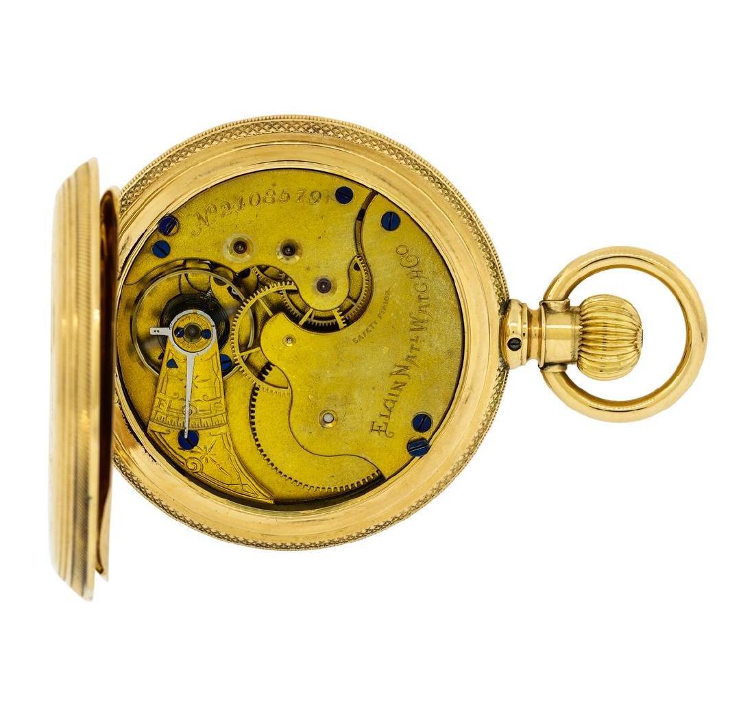 Vintage Elgin Pocket Watch - 14KT Yellow Gold - 5
