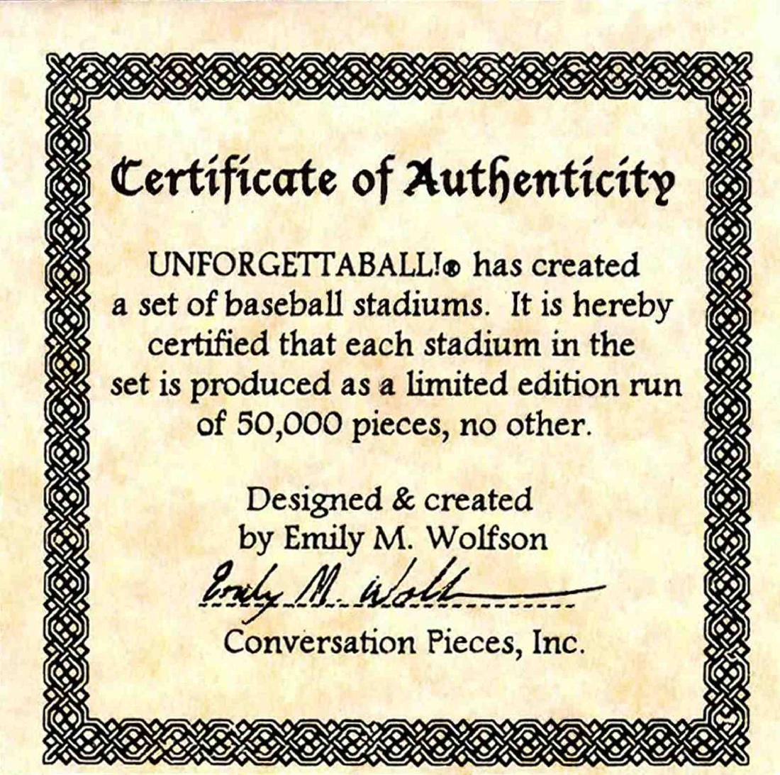 """Unforgettaball! """"Bank One Ballpark"""" Collectable - 6"""