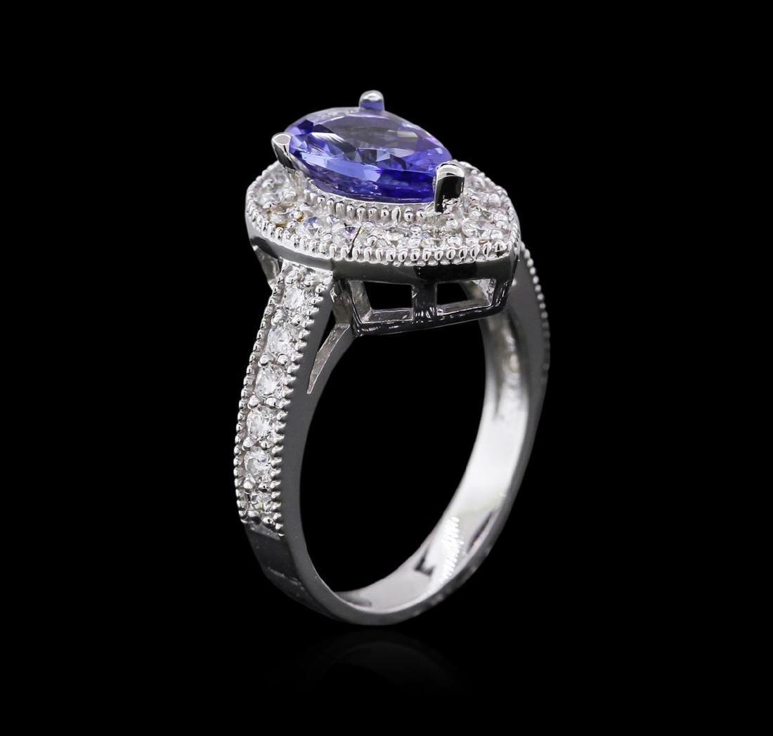 14KT White Gold 1.63 ctw Tanzanite and Diamond Ring - 3