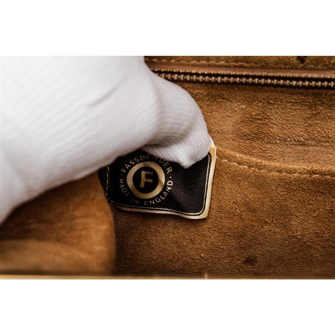 Fassbender Black Croc Vintage Leather Handbag - 6