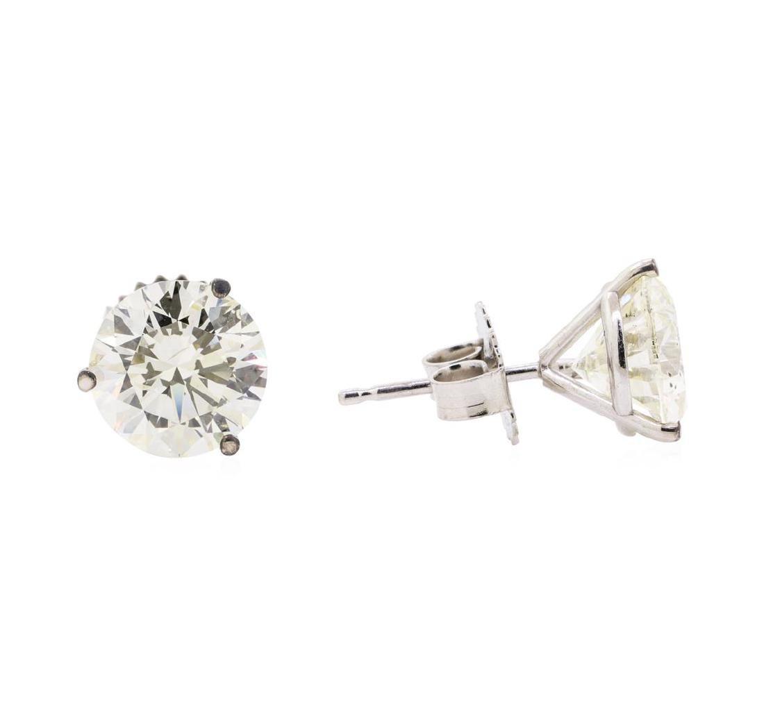 4.14 ctw Diamond Earrings - 14KT White Gold - 2