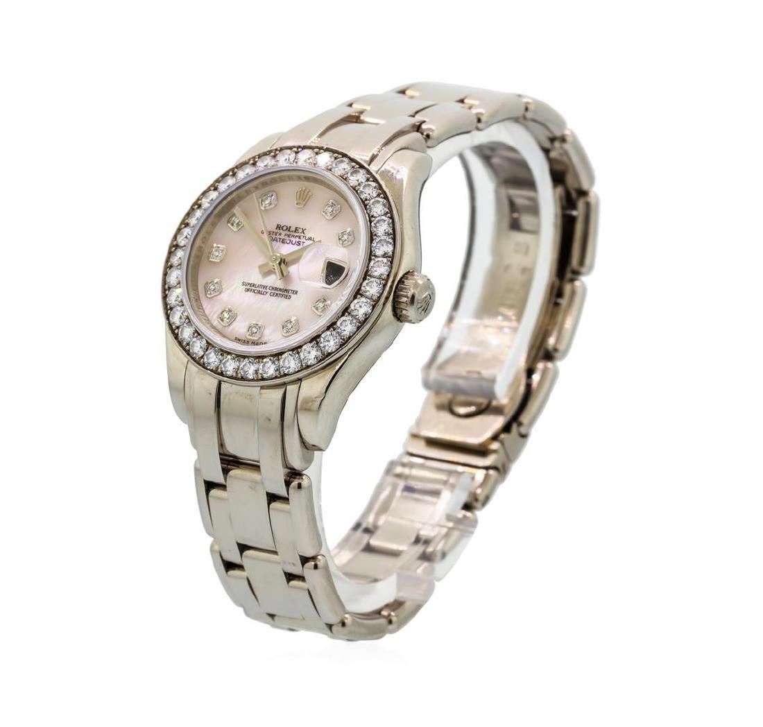Ladies Rolex Masterpiece 18KT White Gold Datejust Watch - 2