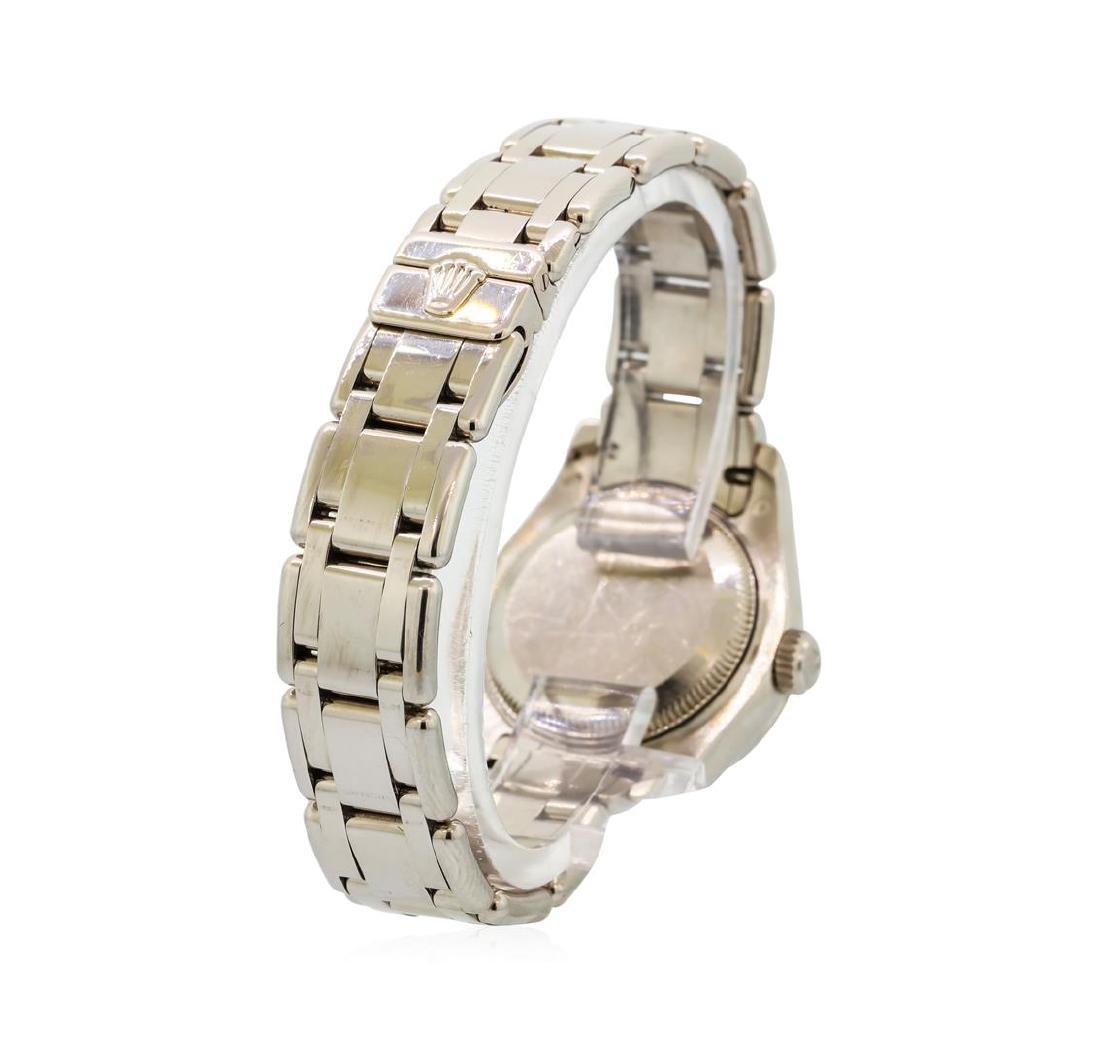 Ladies Rolex Masterpiece 18KT White Gold Datejust Watch - 3