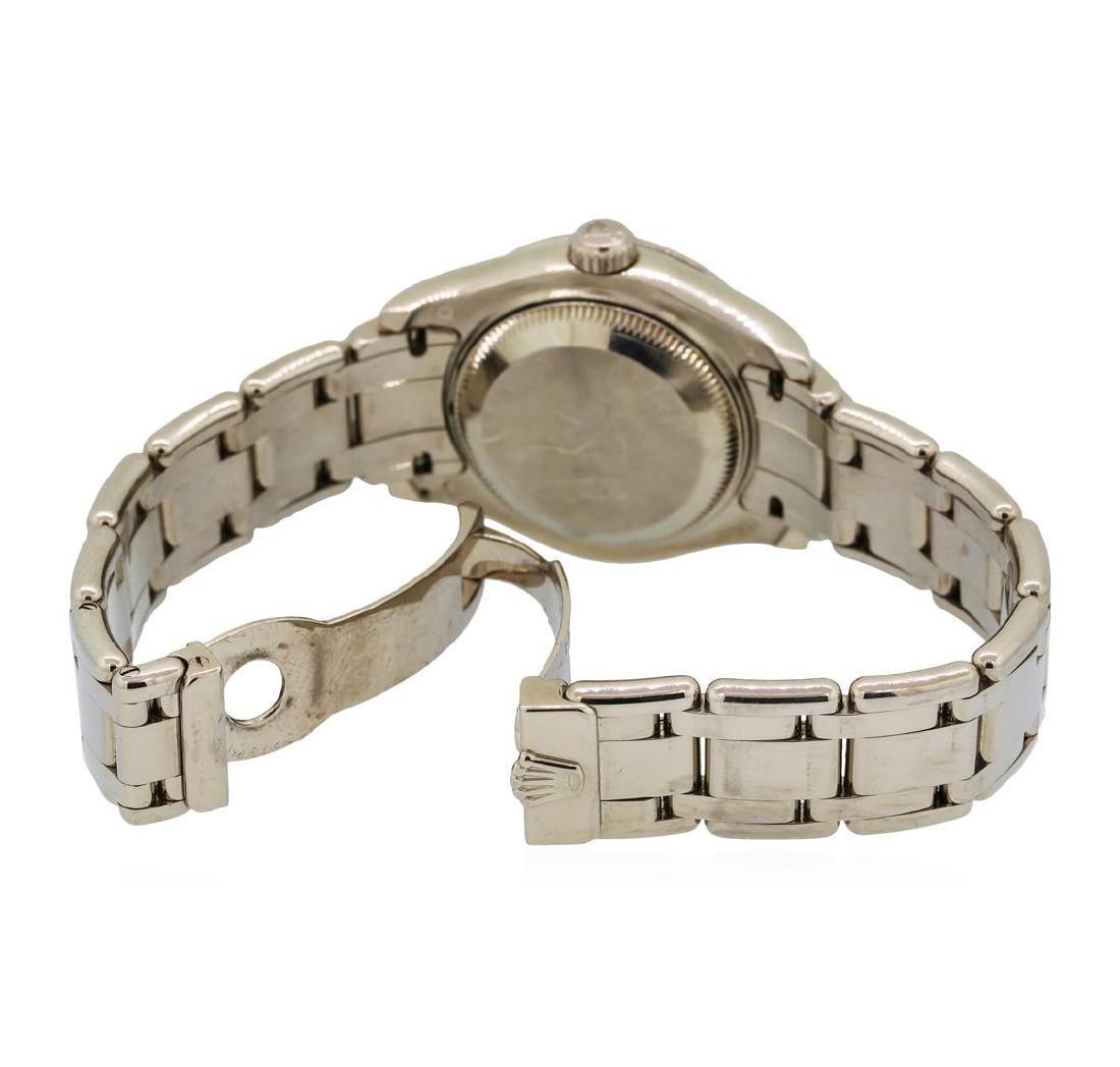 Ladies Rolex Masterpiece 18KT White Gold Datejust Watch - 4