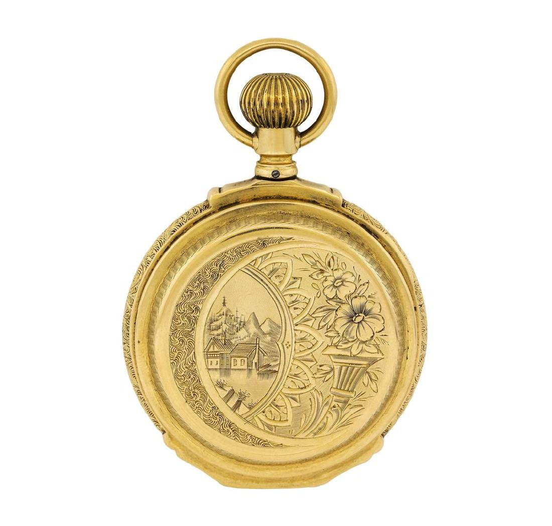 Vintage Waltham Pocket Watch - 14KT Yellow Gold - 2