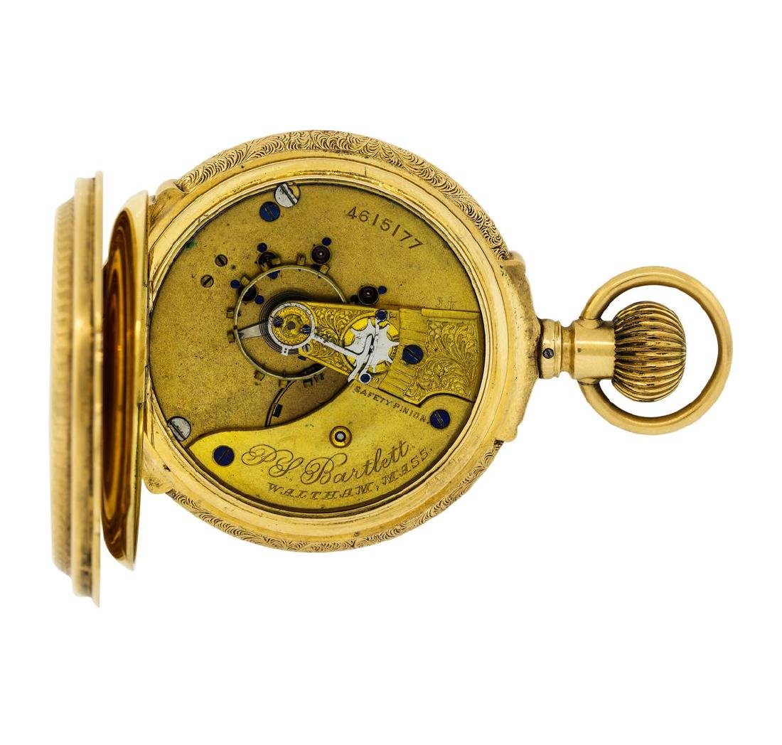Vintage Waltham Pocket Watch - 14KT Yellow Gold - 5