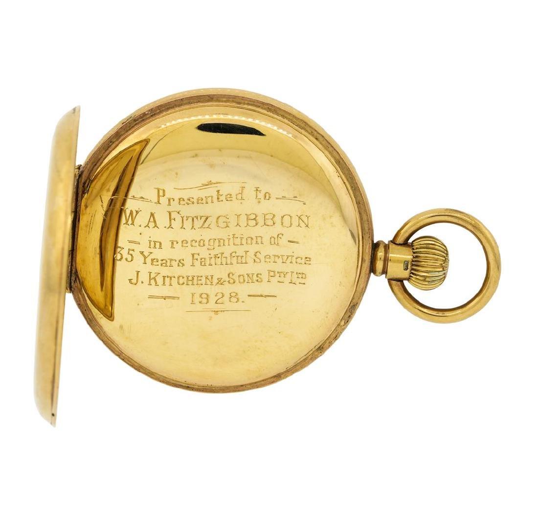 Antique Pocket Watch - 14KT Yellow Gold - 4