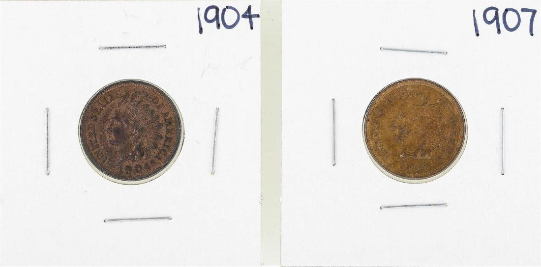 1904 & 1907 Indian Head Cent Coin