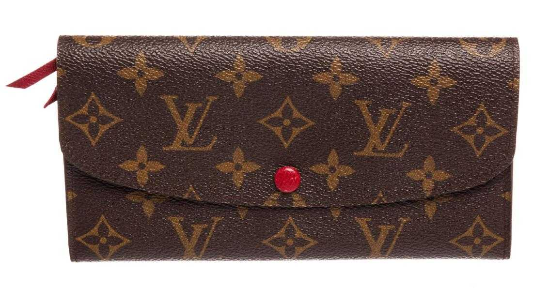 8a2d5240214c0 Louis Vuitton Monogram Canvas Leather Emilie Wallet