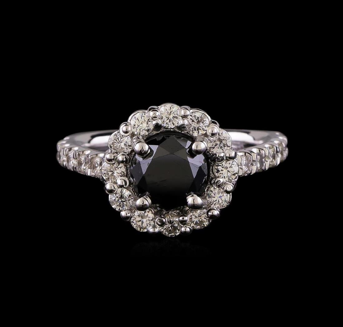 2.61 ctw Black Diamond Ring - 14KT White Gold - 2