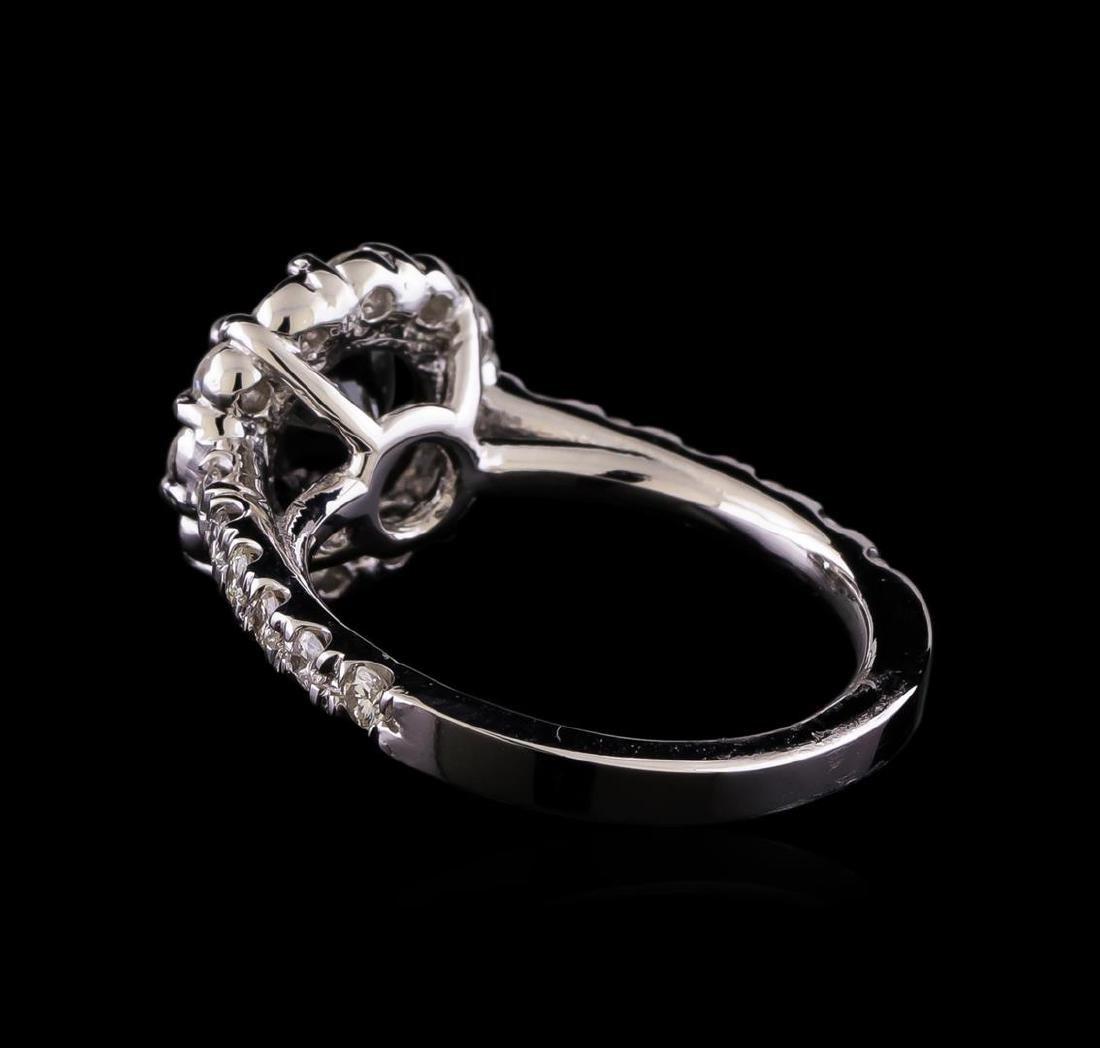 2.61 ctw Black Diamond Ring - 14KT White Gold - 3