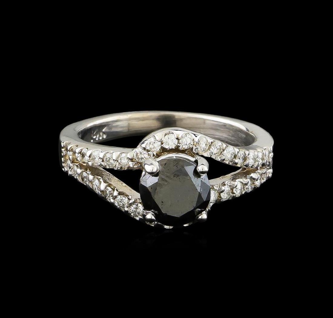 1.94 ctw Black Diamond Ring - 14KT White Gold - 2