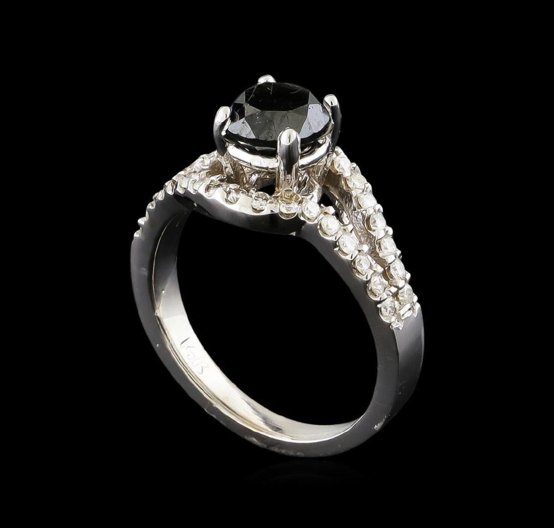 1.94 ctw Black Diamond Ring - 14KT White Gold - 4