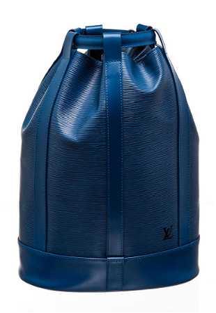 78336622545 Louis Vuitton Blue Epi Leather Randonne PM Backpack Bag