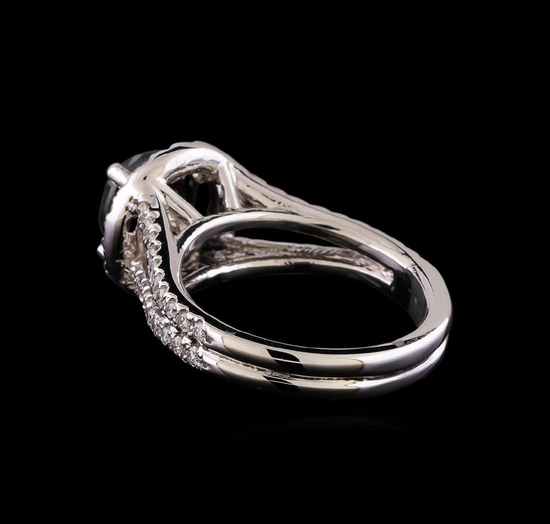 3.58 ctw Black Diamond Ring - 14KT White Gold - 3