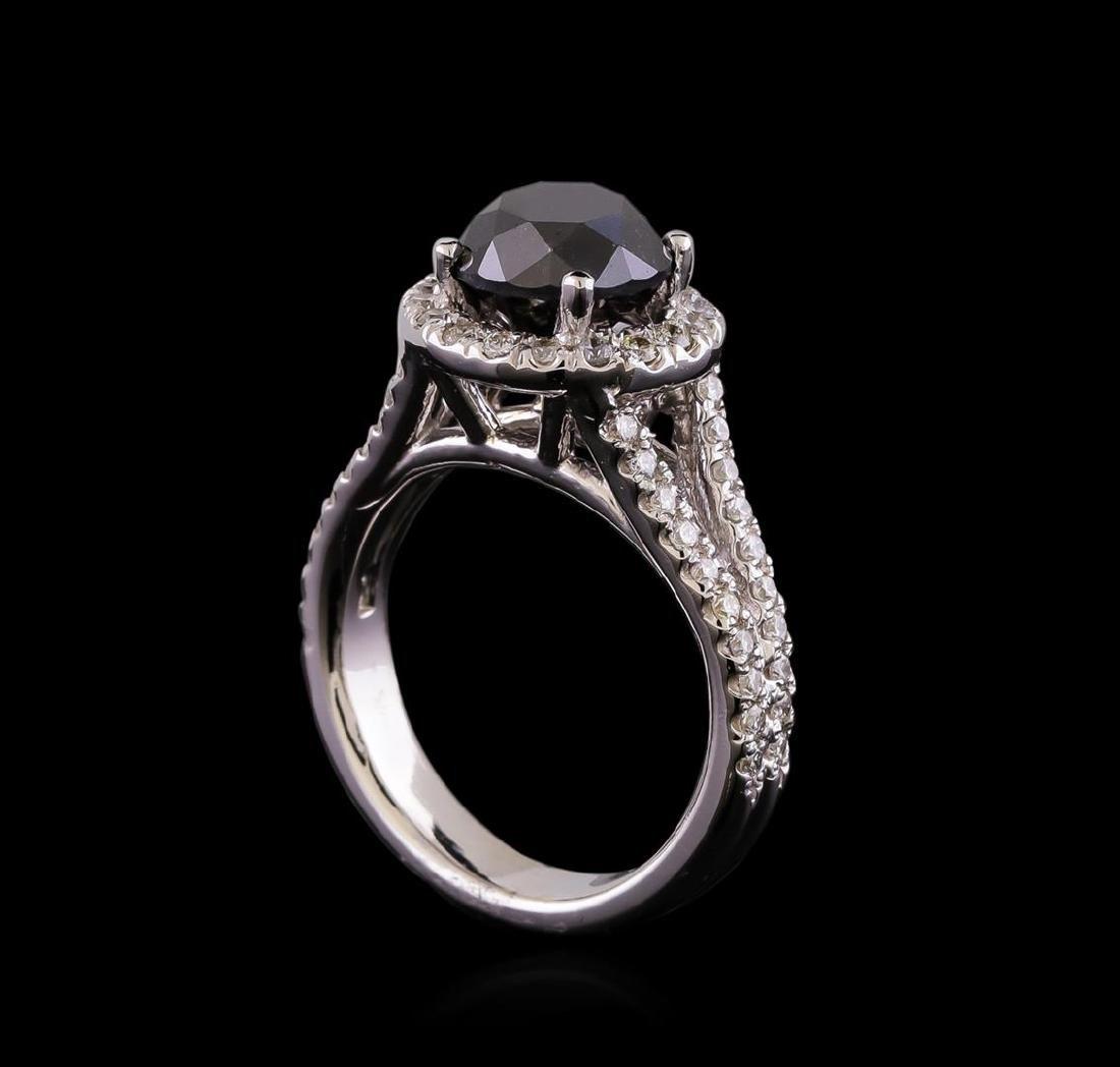 3.58 ctw Black Diamond Ring - 14KT White Gold - 4