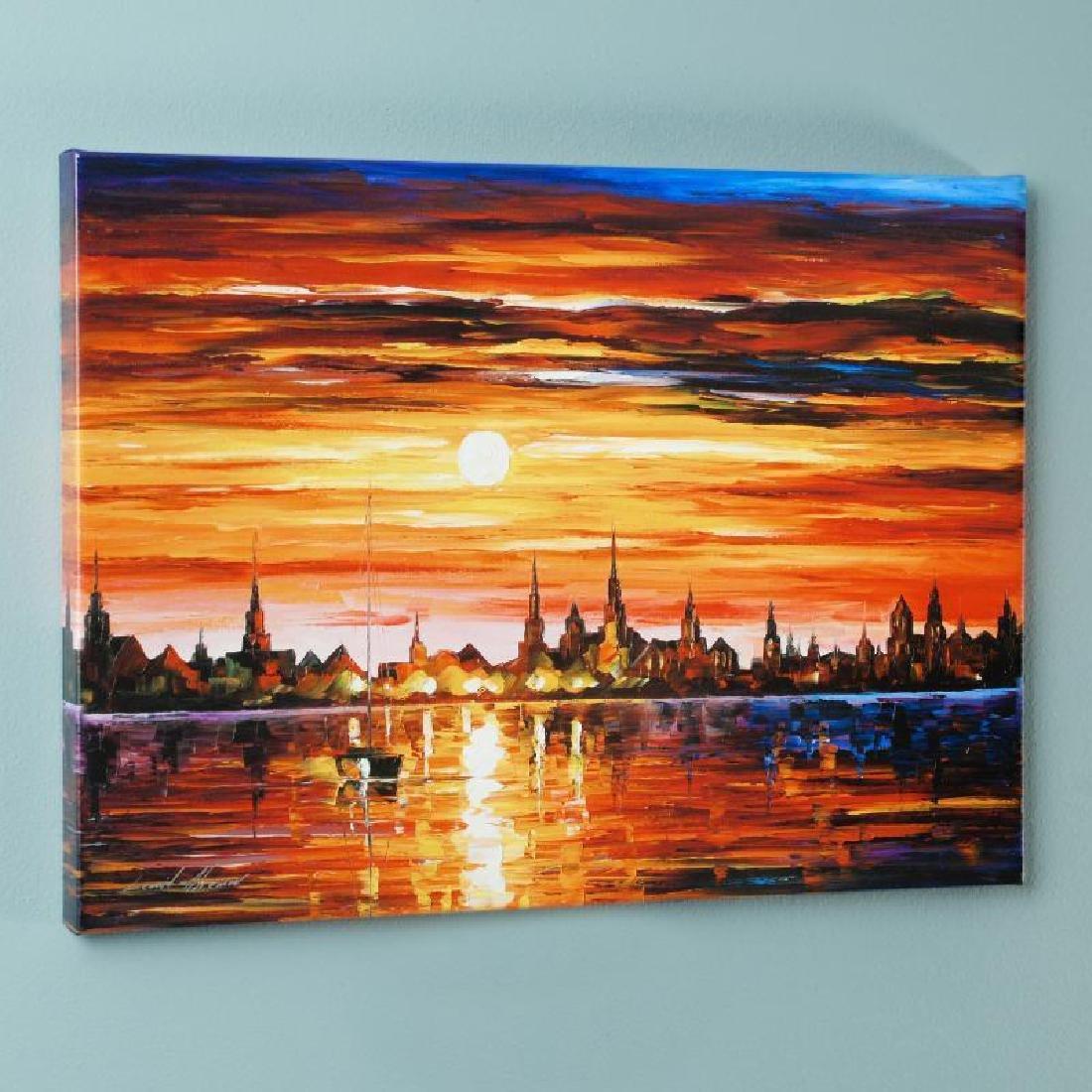 Sunset in Barcelona by Afremov, Leonid - 3