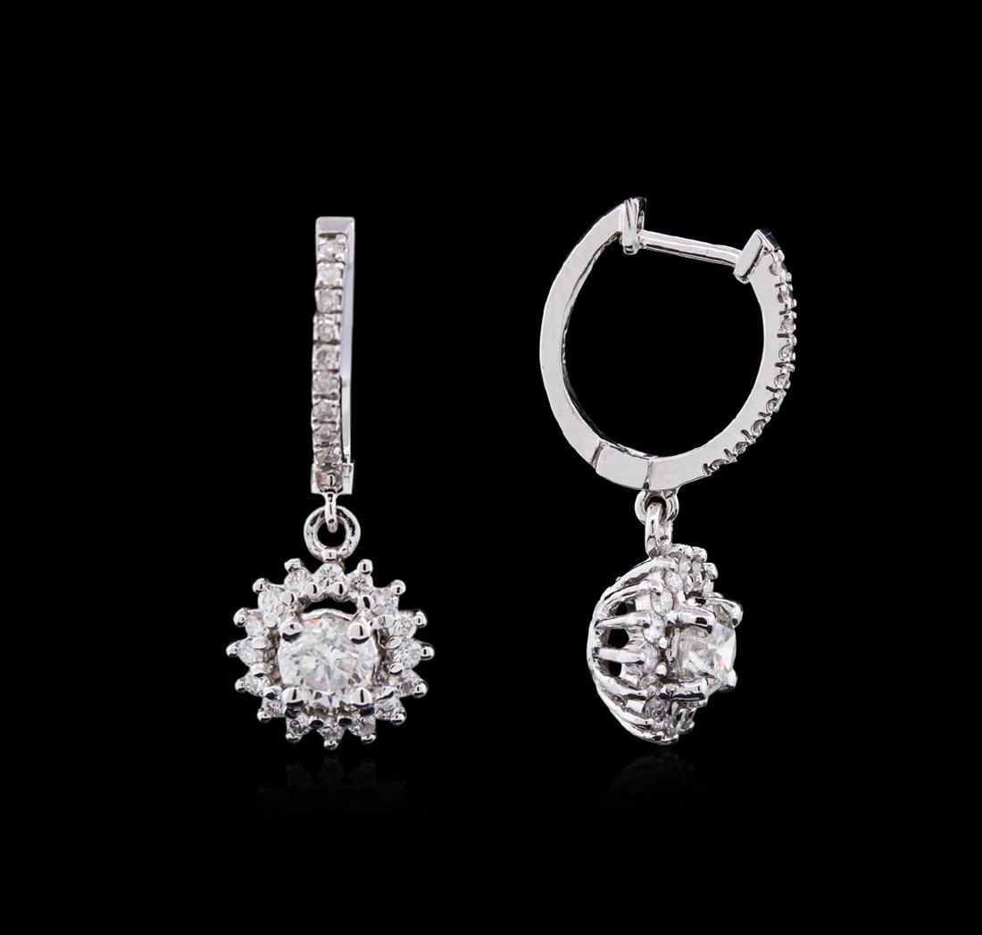 1.52 ctw Diamond Earrings - 14KT White Gold - 2