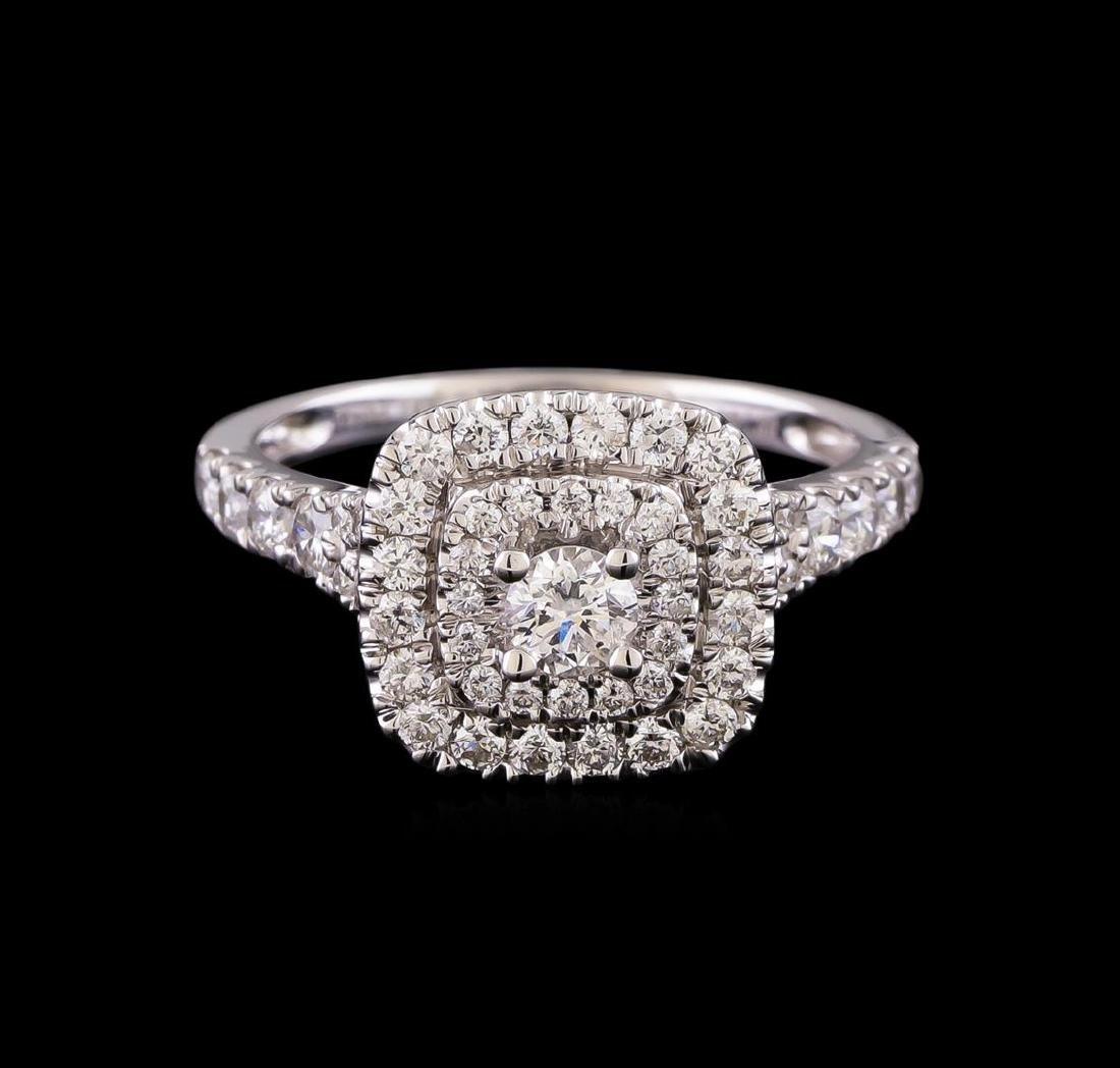 1.10 ctw Diamond Ring - 14KT White Gold - 2