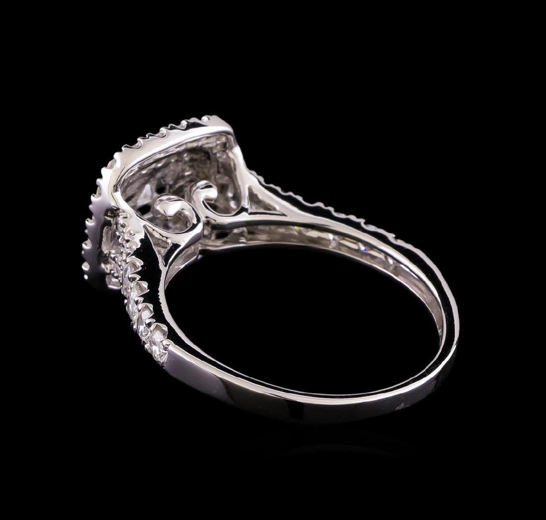 1.10 ctw Diamond Ring - 14KT White Gold - 3