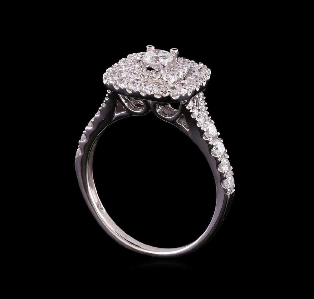 1.10 ctw Diamond Ring - 14KT White Gold - 4